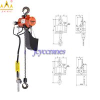 Air Hook Mounted Chain Hoist, Pneumatic Air Chain
