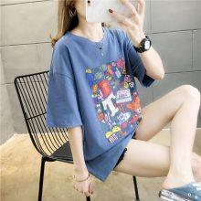 便宜T恤批发市场 成都便宜韩版女装批发夏季纯棉女士短袖 均码白色