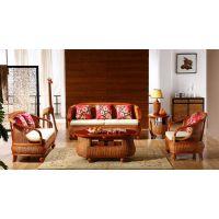 藤格格 1002 厂家批发藤编沙发客厅组合五件套小户型天然真藤木椅子套装