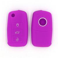 大众宝来 途观L折叠3键环保硅胶汽车钥匙包 多色可选 厂家直销