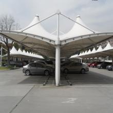 全国上门包安装膜结构雨棚停车棚公园景观棚