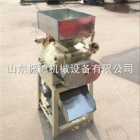 供应 移动型花生米破碎机 大豆轧碎机 振德牌 对辊电动破瓣机