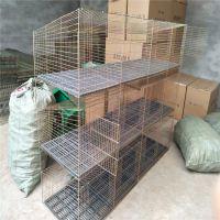 现货供应邢台子母兔笼带产箱的3层12位竹底兔子笼子价格