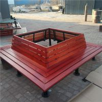 方形树围椅 公园 小区围树座凳靠背椅 实木树围椅 户外休闲圆形椅