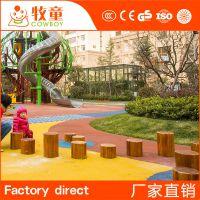 供应户外儿童游乐设备木桩 木桩儿童乐园厂家定制