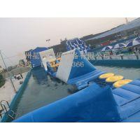 星锐游乐水上充气玩具 雪地悠波球 充气球船 水上蹦床