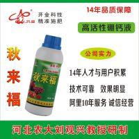 开金科技秋来福硼钙液果树叶面肥江苏桃梨不含激素硼钙肥高效益园区