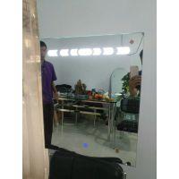 黑龙江大庆厂家定制 高品质酒店写字楼时尚灯镜卫生间镜子