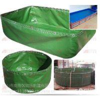绿色水池加工 手工沙池加工 篷布鱼池 明乐加厚帆布池