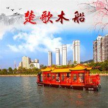 出售辽宁本溪12米画舫船 观光船 水上吃饭的船餐厅