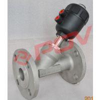 PSJZ641气动角座阀 带电磁阀控制 用于控制管路介质的开关