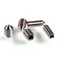 DIN914高强度12.9级内六角尖端紧定螺钉机米螺丝发黑/304不锈钢内尖无头螺丝M3-M10