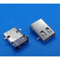usb 3.1 type-c母座 板上24P(12插12贴)前贴后插 usb接口防水连接器