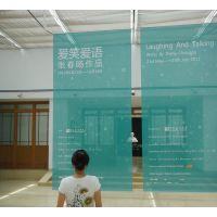 深圳双面喷绘 UV双面网格布 商场网格布吊旗夹黑双面吊旗喷绘