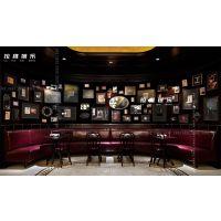 西安酒吧实木单人沙发双人沙发酒吧卡座定制厂家