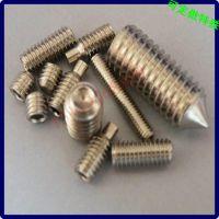 不锈钢尖头圆柱螺丝 无头尖嘴螺丝钉 江门螺丝厂 生产定做