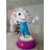 雕塑厂家供应动漫大象卡通模型雕塑玻璃钢卡通动物雕塑