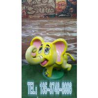 东莞昌盛雕塑供应玻璃钢彩绘大象雕塑纤维立体大笨象模型