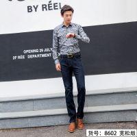 供应杰克威尔奇2018秋冬新款正品加厚商务宽松男士牛仔长裤8602