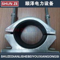 螺栓型铝合金高压电缆固定线夹JGHD-1单相抱箍单芯55-65mm