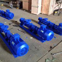 河南众度泵业 浓浆输送螺杆泵G30-2 3KW 无级调速螺杆泵用途和性能