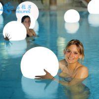 海粒子别墅花园泳池发光玩具发光圆球灯厂家