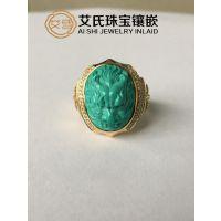 【珠宝首饰定制镶嵌】绿松石价格说明,绿松石戒指定制镶嵌