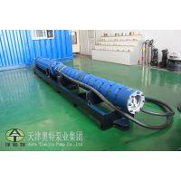 水电站供水使用300方流量潜水电泵产品380V启动卧式潜水泵QJW型号