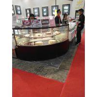弧形转角展示柜 蛋糕柜 蛋糕展示柜 定做冷藏柜