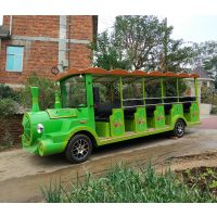 朗迈LM-TR14旅游观光小火车14座 火车头观光游览车 主题公园电动小火车