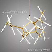 新款人字树杈餐厅灯 树枝人字树叉灯人字形LED人字灯工业工程灯具