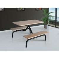 农安食堂餐桌椅可选择面板多样定制生产