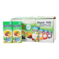 达美酸奶180ml*12/箱 混合味礼盒装  泰国进口酸奶批发