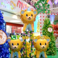 玻璃钢狮子小狗造型雕塑玻璃纤维卡通动物游乐园商场摆件雕塑定制