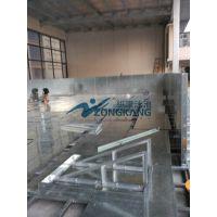 牡丹江市可拆装式钢结构恒温泳池 /拼装式大型游泳池/广州纵康水处理设备