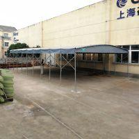 潍坊推拉蓬,电动伸缩蓬大型伸缩雨蓬 布遮雨帐篷工业仓储篷手动推拉蓬