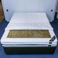 享玉加厚天然乳胶棉智能温控加热双人玉石床垫