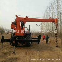 拖拉机吊车  拖拉机起重机 拖拉机改装 吊车钻孔一体机