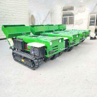 开沟施肥机效果好 履带式果园施肥开沟机 启航果园遥控履带式旋耕回填机