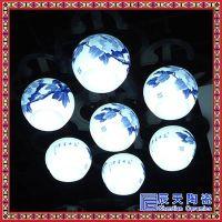 陶瓷灯具景德镇 美式吊灯田园陶瓷客厅灯 中国风别墅现代餐厅灯具