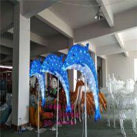 灯熠造型灯厂家 滴胶动物灯 灯光节水母 3D海豚造型灯