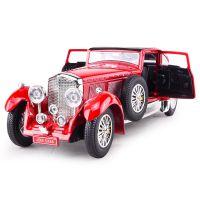 金袋鼠791188宾利复古老爷车模型儿童合金仿真声光回力玩具车摆件