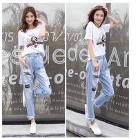 东莞牛仔裤批发市场在哪里有便宜的新款的牛仔裤女士显瘦小脚裤韩版秋季女装长裤深色休闲