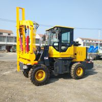 厂家出售畅销装载机改装打桩机,,装载式护栏打桩机专卖