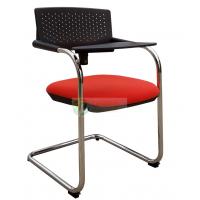 弓形会议椅带写字板培训椅时尚办公椅洽谈椅塑钢招待椅阅览椅