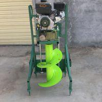 大棚建设打桩机 四轮车牵引立柱挖坑机 果林种树打窝机