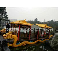 厂家供应水上游艺木船 公园旅游观光画舫木船 款式多样支持定制