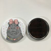 马口铁镜子定制 可爱便携单面随身化妆镜 小清新梳妆镜子