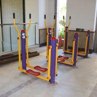 黄埔区双人落地椭圆机批发 户外健身器材 小区健身器材