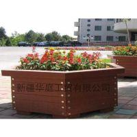 新疆花箱/哈密塑木种植箱防水防腐/拜城环保花箱美观精致